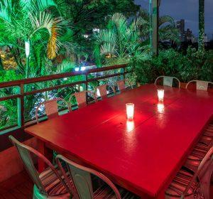 Camarote mesa vermelha