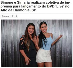 Coletiva de imprensa Simone e Simaria